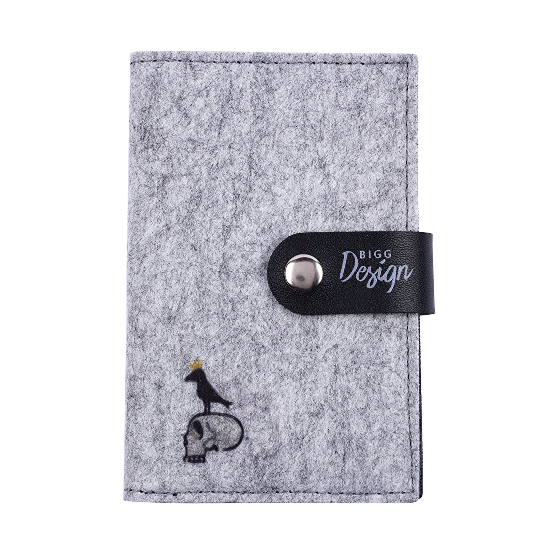 Picture of BiggDesign Mr. Allright Man Keçe Pasaport Kabı