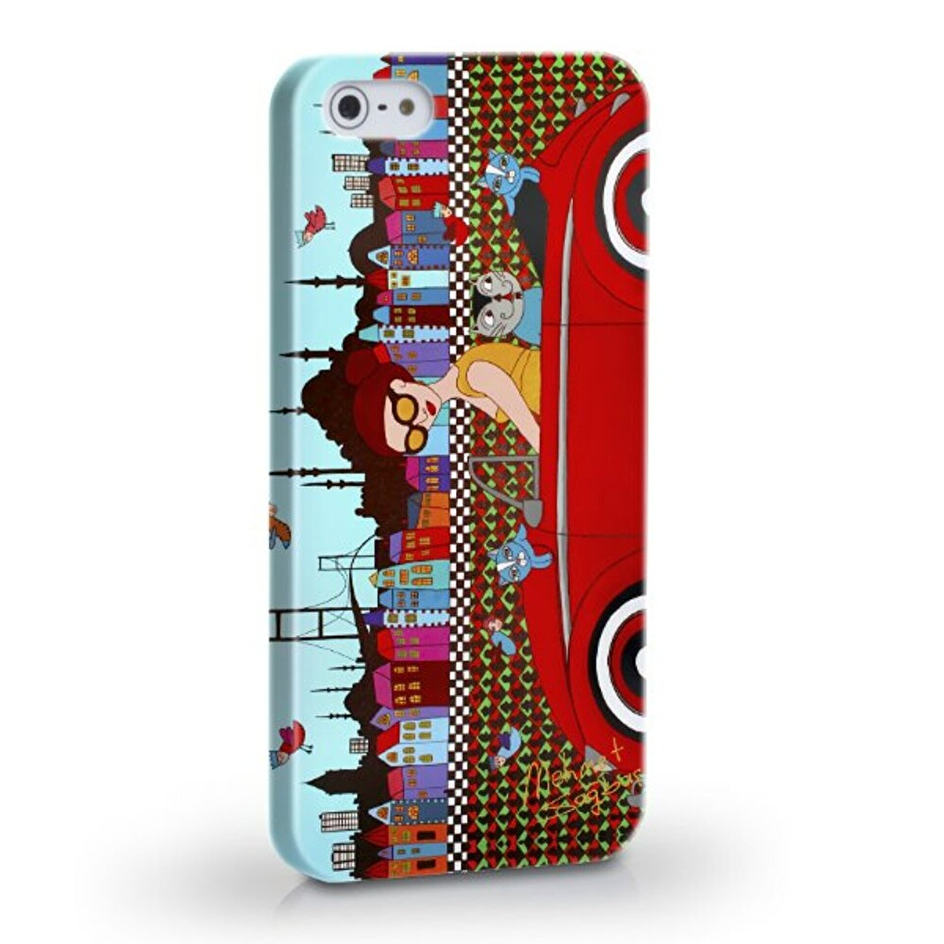 Picture of BiggDesign Arabalı Kız iPhone 5/5S Kapak