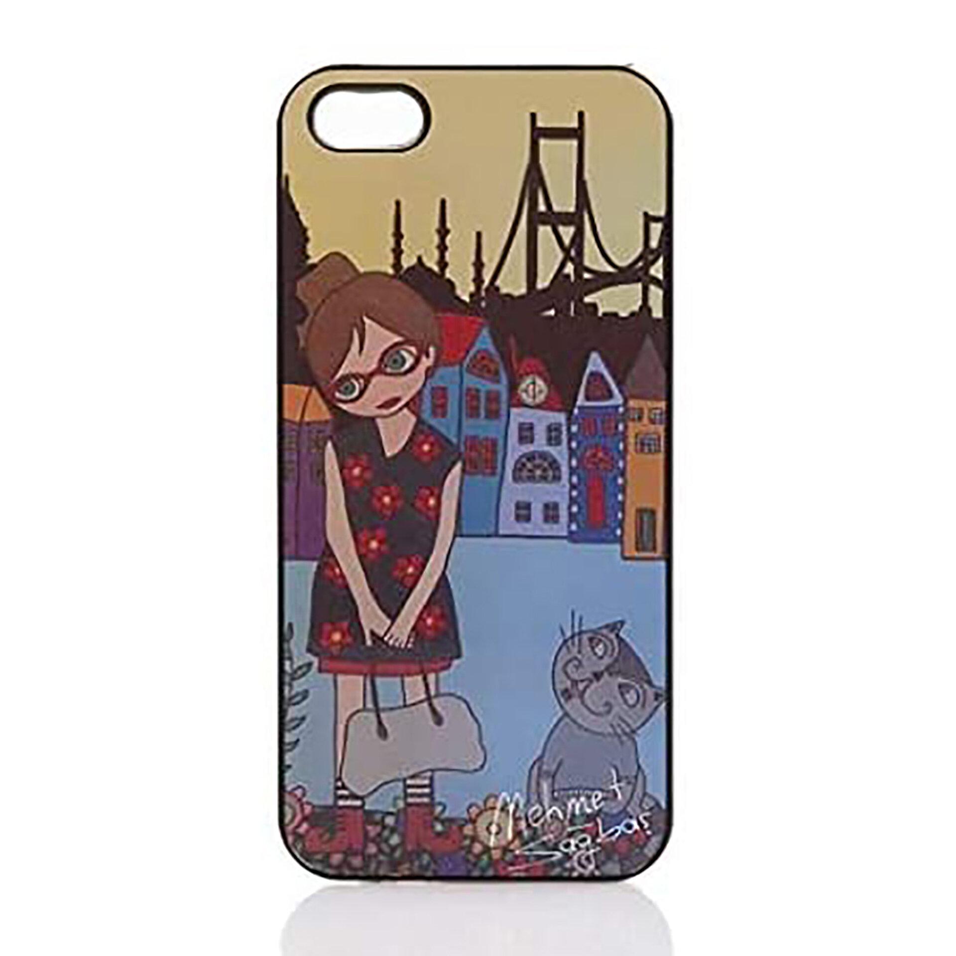 Picture of Biggdesign iPhone 5/5S Siyah Kapak Çiçekli Kız