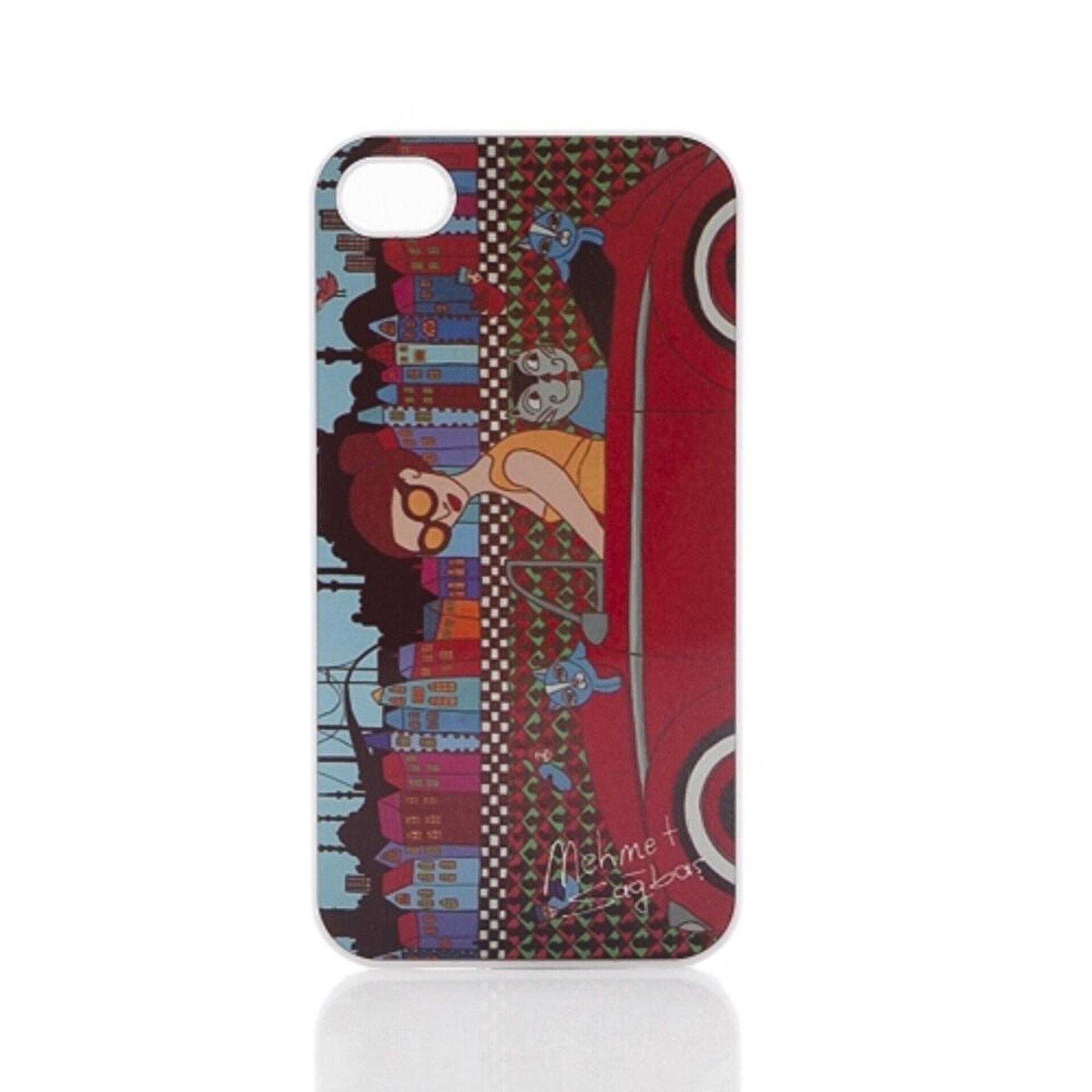 Picture of BiggDesign iPhone 5/5S Beyaz Kapak Arabalı Kız