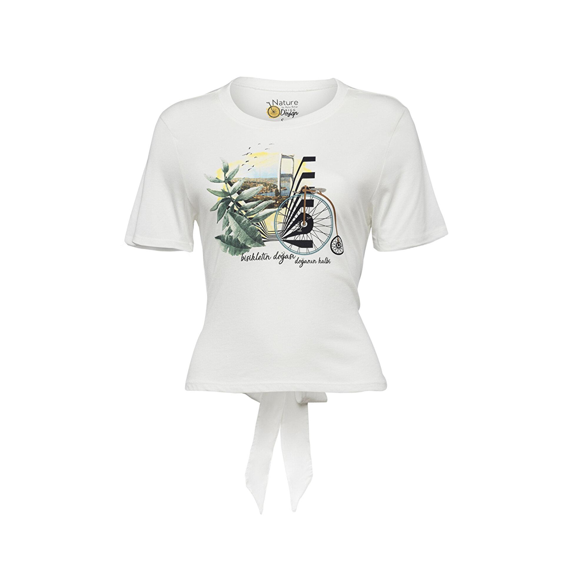 Picture of BiggDesign Nature Boğazda Bisiklet Kadın T-shirt
