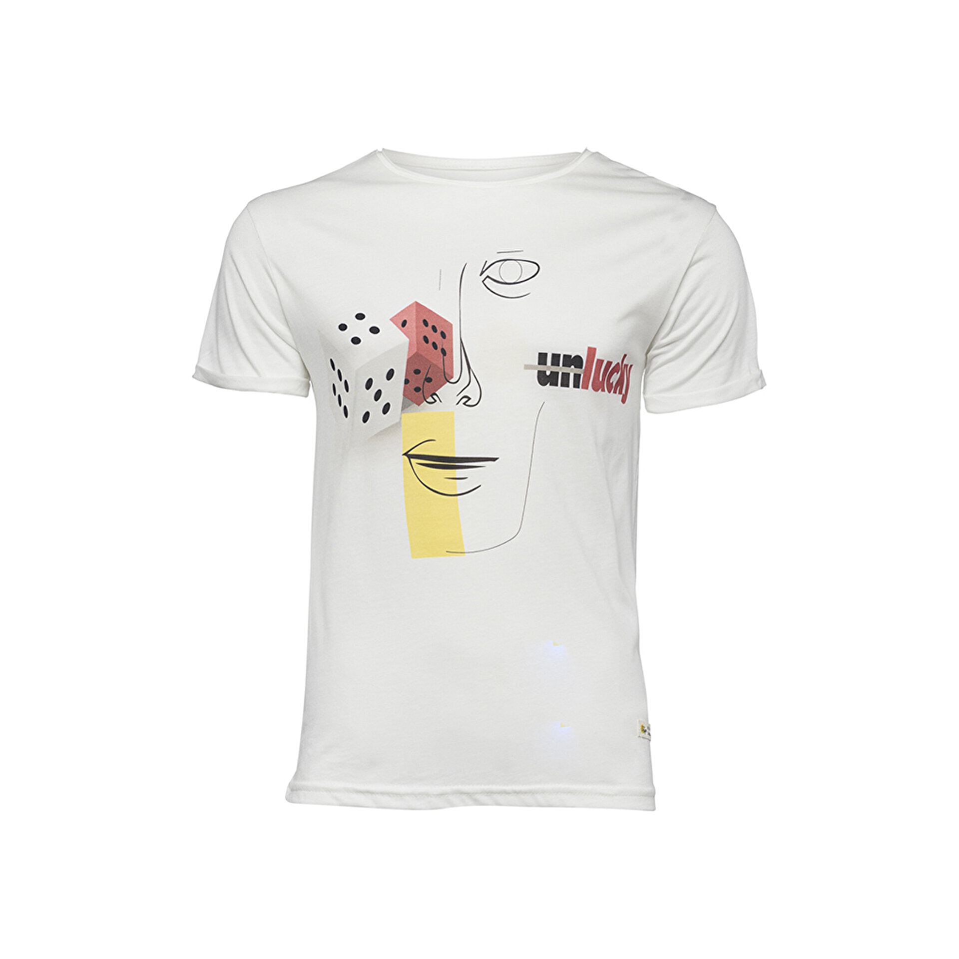 Picture of Biggdesign Faces Lucky Erkek T-Shirt