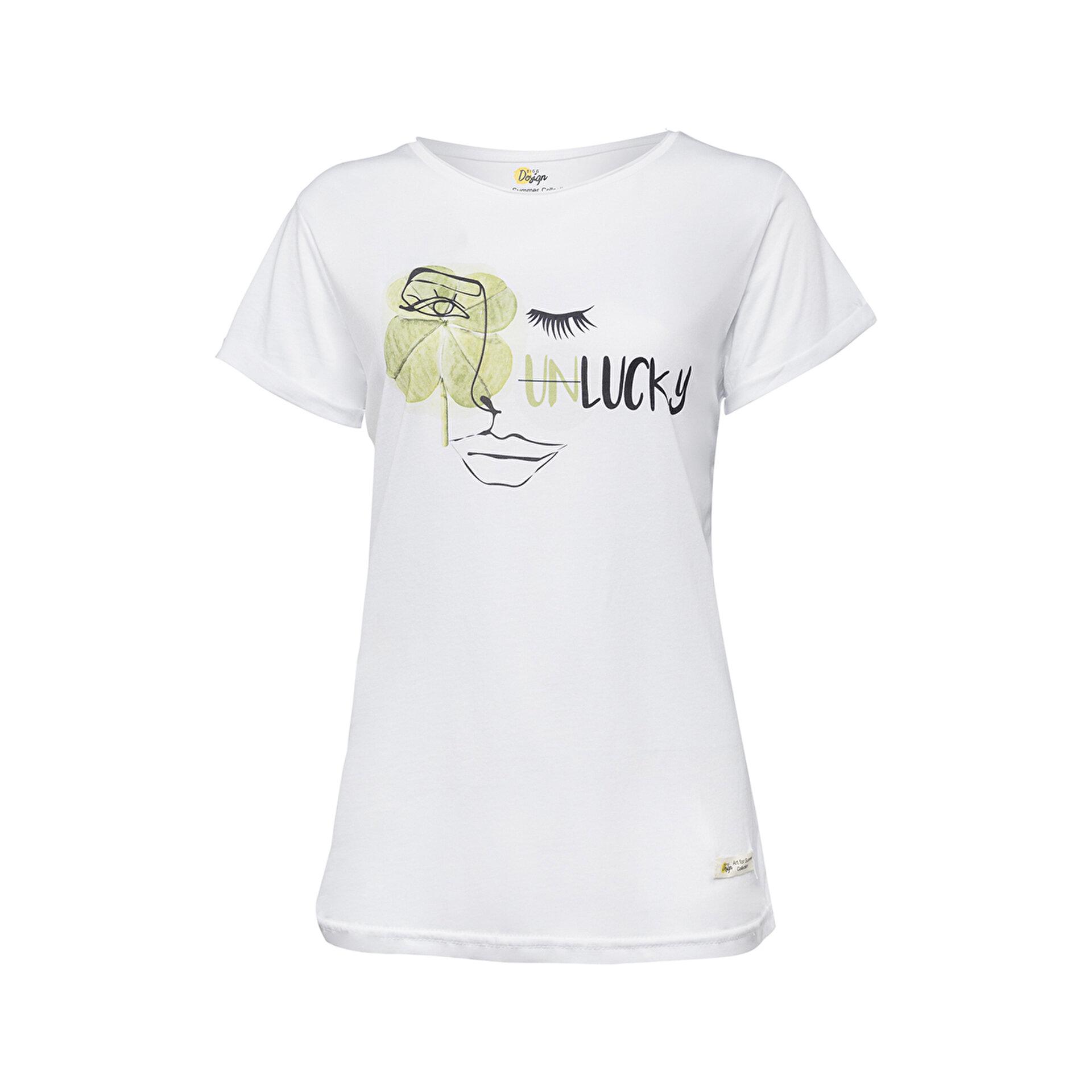 Picture of Biggdesign Faces Lucky Kadın T-Shirt