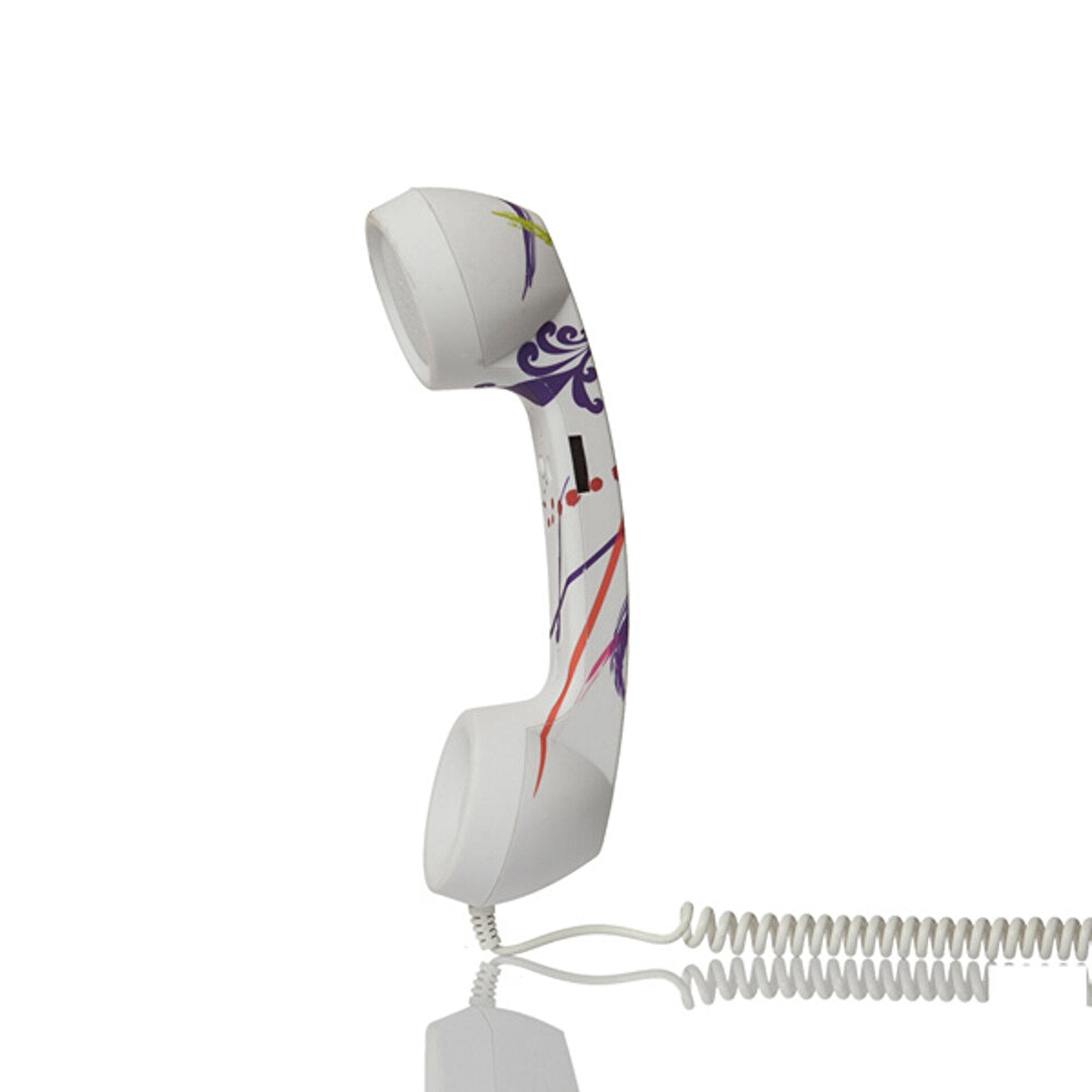 Picture of Biggphone Retro Telefon Ahizesi Desenli Mor