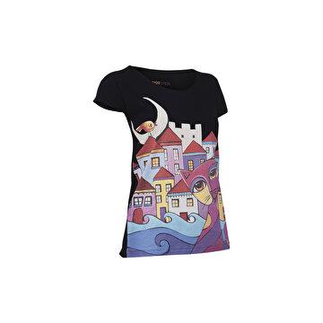 Picture of BiggDesign Owl and City Kadın T-Shirt