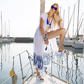 Picture of BiggDesign Nazar Uzun Plaj Elbisesi
