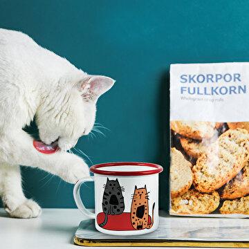 Picture of Biggdesign Cats 2'li Emaye Kupa Seti