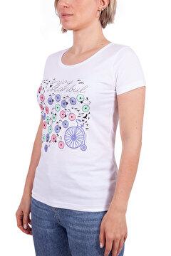 Picture of Biggdesign Enjoy Istanbul Beyaz Kadın T-Shirt