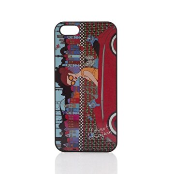 Picture of BiggDesign iPhone 4/4S Siyah Kapak Arabalı Kız