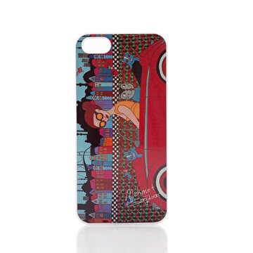 Picture of BiggDesign iPhone 4/4S Beyaz Kapak Arabalı Kız