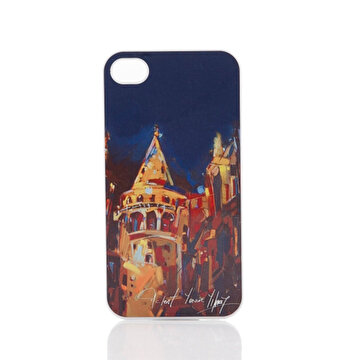 Picture of Biggdesign iPhone 4/4S Beyaz Kapak Galata