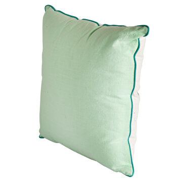 Picture of Biggdesign Anemoss Yeşil Yengeç Desenli Elyaf Dolgulu Pamuklu Kare Yastık