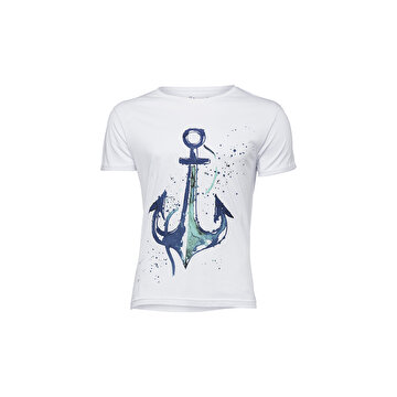 Picture of Biggdesign AnemosS Çapa Beyaz Erkek T-Shirt