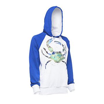 Picture of Biggdesign AnemosS Yeşil Yengeç Desenli Beyaz Erkek Sweatshirt