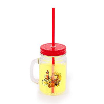Picture of BiggDesign Nature Kulplu Limonata Bardağı Kırmızı