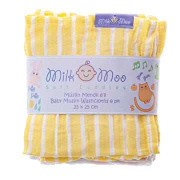 Picture of Milk&Moo 8'li Müslin Ağız Bezi Bulut ve Çizgi