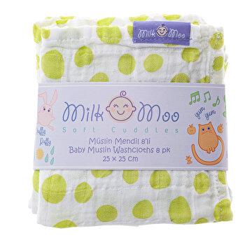 Picture of Milk&Moo 8'li Müslin Ağız Bezi Damla ve Benek