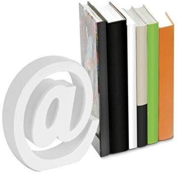 Picture of Nektar 24562 Kitap Tutucu Ahşap Beyaz
