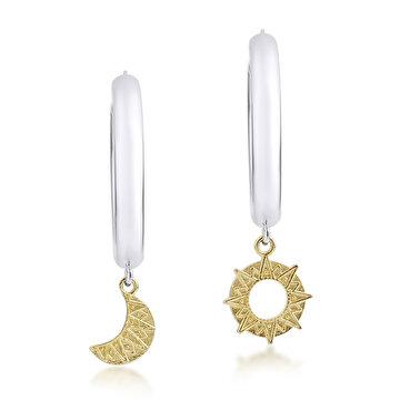 Picture of Tash Design Ay ve Güneş Büyük Küpe