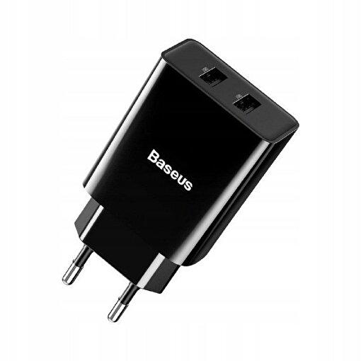 Baseus Speed Mini Dual 10.5W Seyahat Şarjı Siyah. ürün görseli