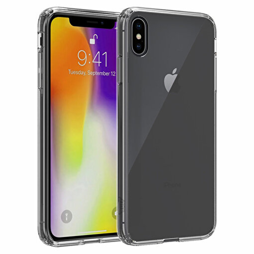Buff iPhone Xs Max Air Hybrid Kılıf Smoke Black. ürün görseli