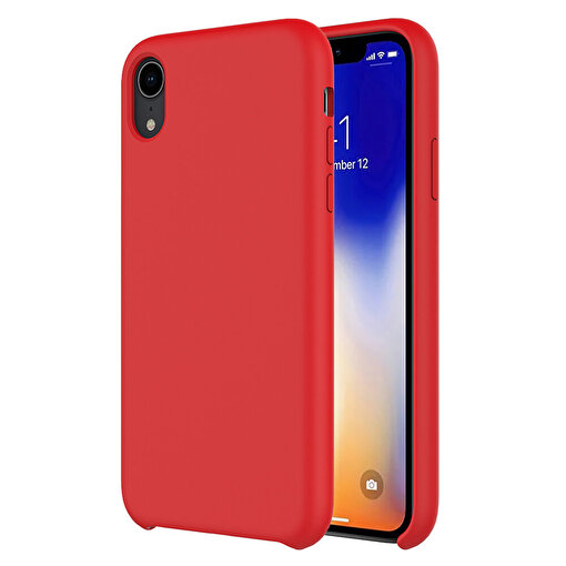 Buff iPhone XR Rubber Fit Kılıf Red. ürün görseli