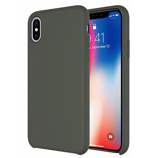 Buff iPhone Xs Max Rubber Fit Kılıf Dark Olive. ürün görseli