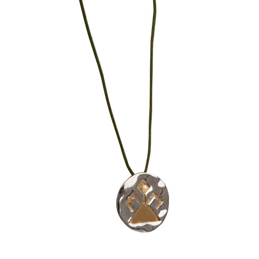BiggDesign Beş Kız Kardeş Fatma Gümüş Kolye. ürün görseli