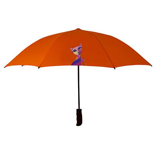 BiggDesign Owl And City Uzun Şemsiye. ürün görseli