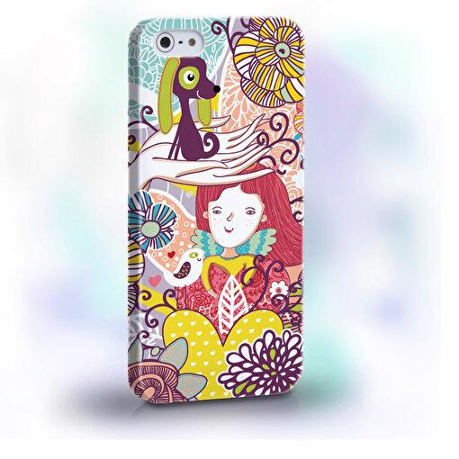 BiggDesign Çiçek Kız iPhone 5/5S Kapak. ürün görseli