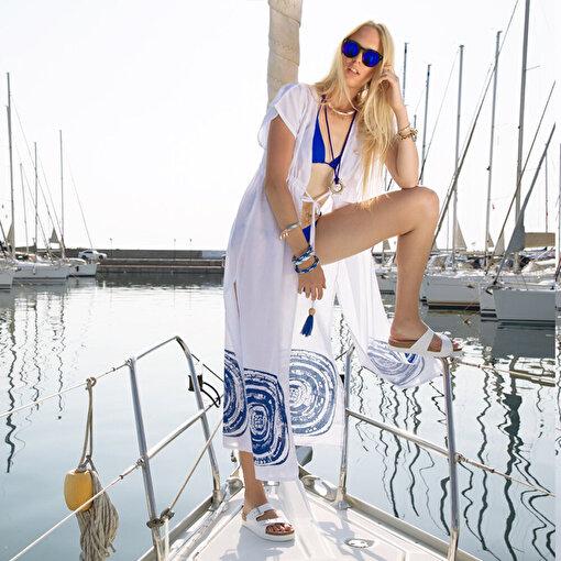 BiggDesign Nazar Uzun Plaj Elbisesi. ürün görseli