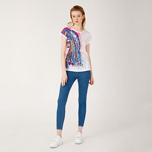 Biggdesign Mavi Su Kadın T-Shirt. ürün görseli
