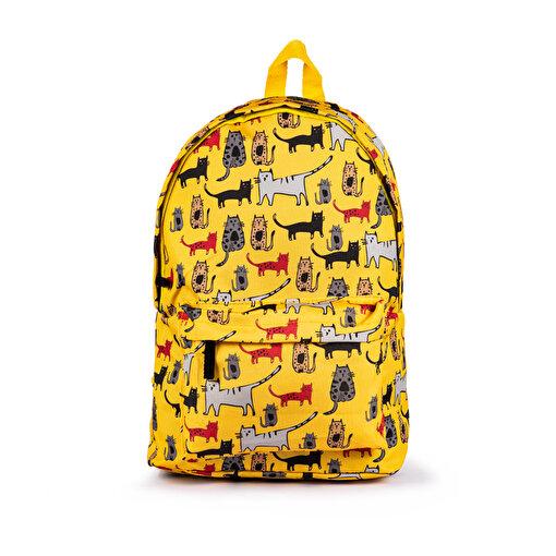 BiggDesign Cats Sarı Sırt Çantası. ürün görseli