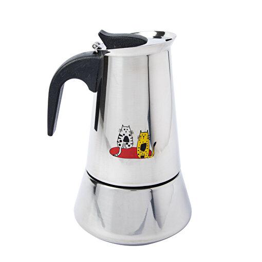 Biggdesign Cats Çelik Espresso Kahve  Makinesi. ürün görseli