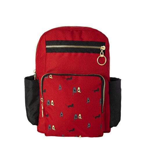 Biggdesign Cats Kırmızı Cepli Çanta. ürün görseli