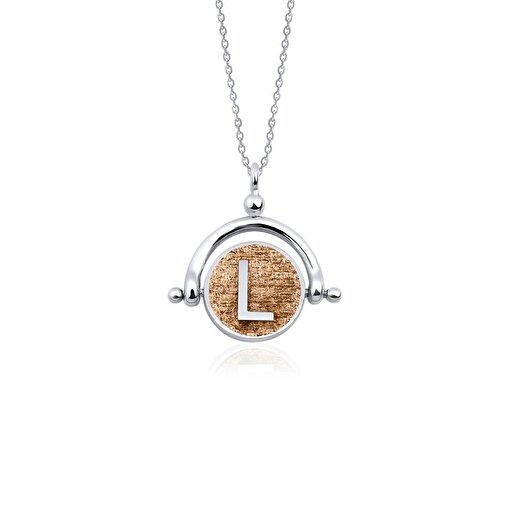 Biggdesign L Harfi Gümüş Kolye. ürün görseli