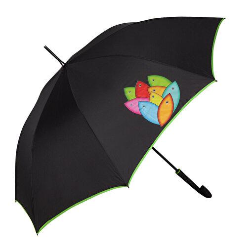 BiggDesign Bereket Balıkları Siyah Şemsiye. ürün görseli