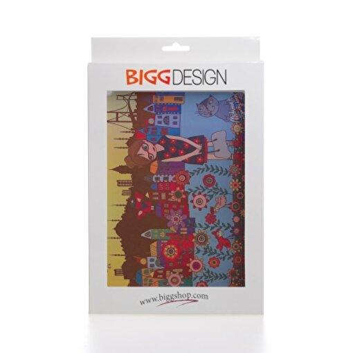 Biggdesign iPad Beyaz Kapak Çiçekli Kız. ürün görseli