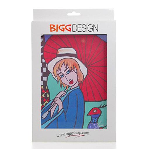 Biggdesign iPad Siyah Kapak Şemsiyeli Kız. ürün görseli