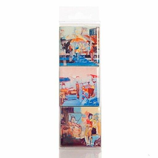 BiggDesign Sanatçı Tasarımı 3Lü Magnet Byy2. ürün görseli