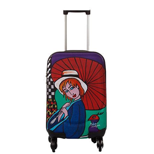 """Biggdesign Şemsiyeli Kız Kabin Boy Kanvas Valiz 18"""". ürün görseli"""