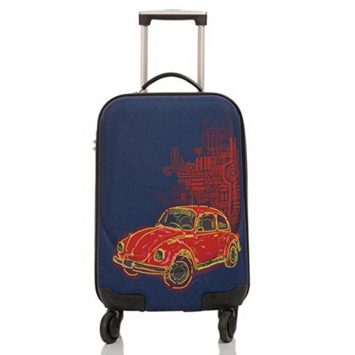 Biggdesign Otomobil Desen Kabin Boy Kanvas Valiz. ürün görseli