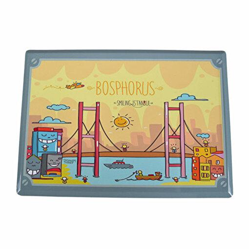 BiggDesign Smiling İstanbul Metal Kartpostal Boğaz. ürün görseli