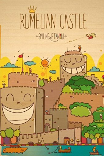 BiggDesign Smiling İstanbul Rumeli Ahşap Kartpostal. ürün görseli