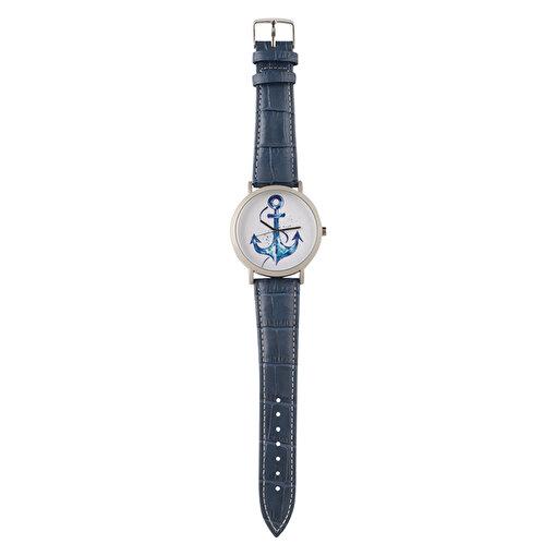 Anemoss Çapa Desenli Deri Kayışlı Erkek Kol Saati. ürün görseli