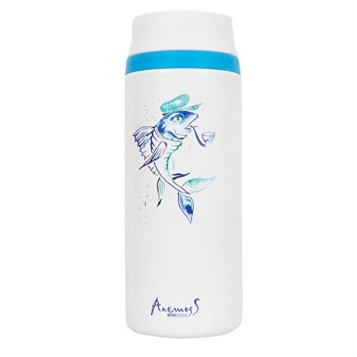 Anemoss Kaptan Balık Termos Mavi. ürün görseli