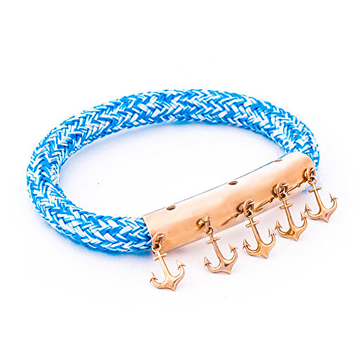 AnemosS Çapa Tasarımlı Mavi Halat Kadın Bileklik. ürün görseli