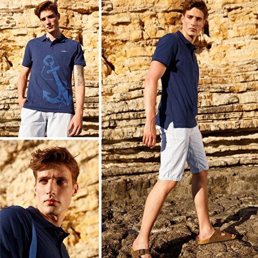 Anemoss Çapa Lacivert Erkek Polo Yaka T-Shirt. ürün görseli