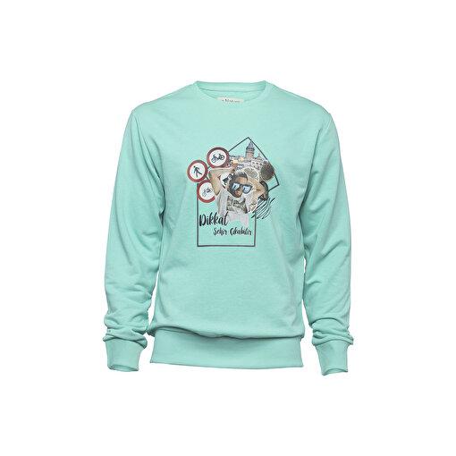 Biggdesign Nature Durak Erkek Sweatshirt. ürün görseli