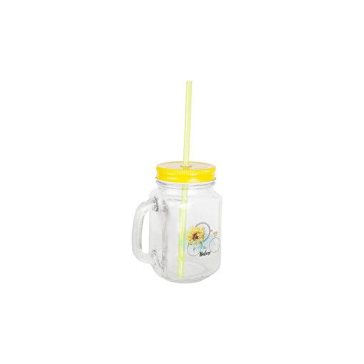 Biggdesign Nature Kulplu Limonata Bardağı Sarı. ürün görseli
